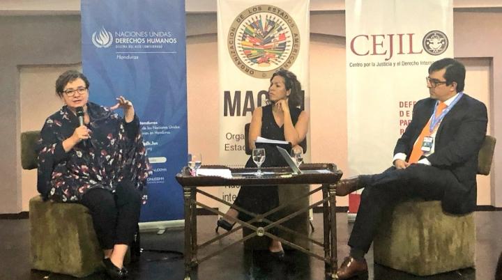Operadores de justicia dialogan sobre desafíos de la investigación de casos de corrupción y violaciones de derechos humanos en Honduras