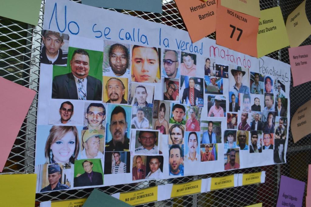 HOMENAJE A LOS 77 CAÍDOS HOY DÍA DEL PERIODISTA EN HONDURAS