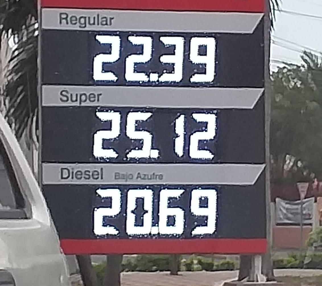 Variaciones en los precios de los combustibles